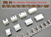 XH2.54 2P 3P 4P 5P 6P 7P 8P 9P 10P 11P 12P 13P 14P 15P 16P Connector 2.54mm Male Strip Pin Header+Housing + Terminal for PCB Car