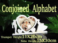 Conjoined Artificial wood letters word Love Photo frame wedding decoration wood letter Wedding Birthday wedding decoration Gift