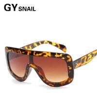 GYsnail 2017 Fashion Women Sunglasses Flat Top Oversize Shield Shape Glasses Brand Design Vintage Sun glasses UV400 Female Rivet