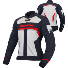 BENKIA Breathable Motorcycle Racing Jacket Women's Motocross Jacket Spring Summer Mesh Riding Clothes Female Outerwear JS-W35