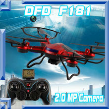 Free shipping DFD F181 Professional RC Quadcopter Drones with 2MP Camera HD 2 4G 6Axis RC