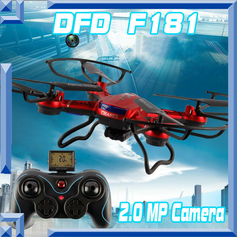 Free shipping DFD F181 Professional font b RC b font Quadcopter Drones with 2MP Camera HD