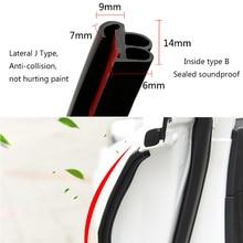 Car Door Seal Strips Weatherstrip Rubber Stickers Sound Insulation Sealing Automobiles Interior Accessories