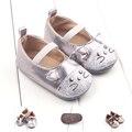 2016 Nuevo Estilo de LA PU de Cuero Mocasines zapatos de La Princesa Del Bebé Recién Nacido Niñas Prewalkers Mary Jane Zapatos Antideslizantes Cuna Bebe la Historieta zapatos