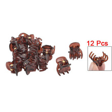 NEW Hot Sale! 12Pcs Ladies/Girls Spring Joint Plastic Mini Cute Hair Clamps Clips