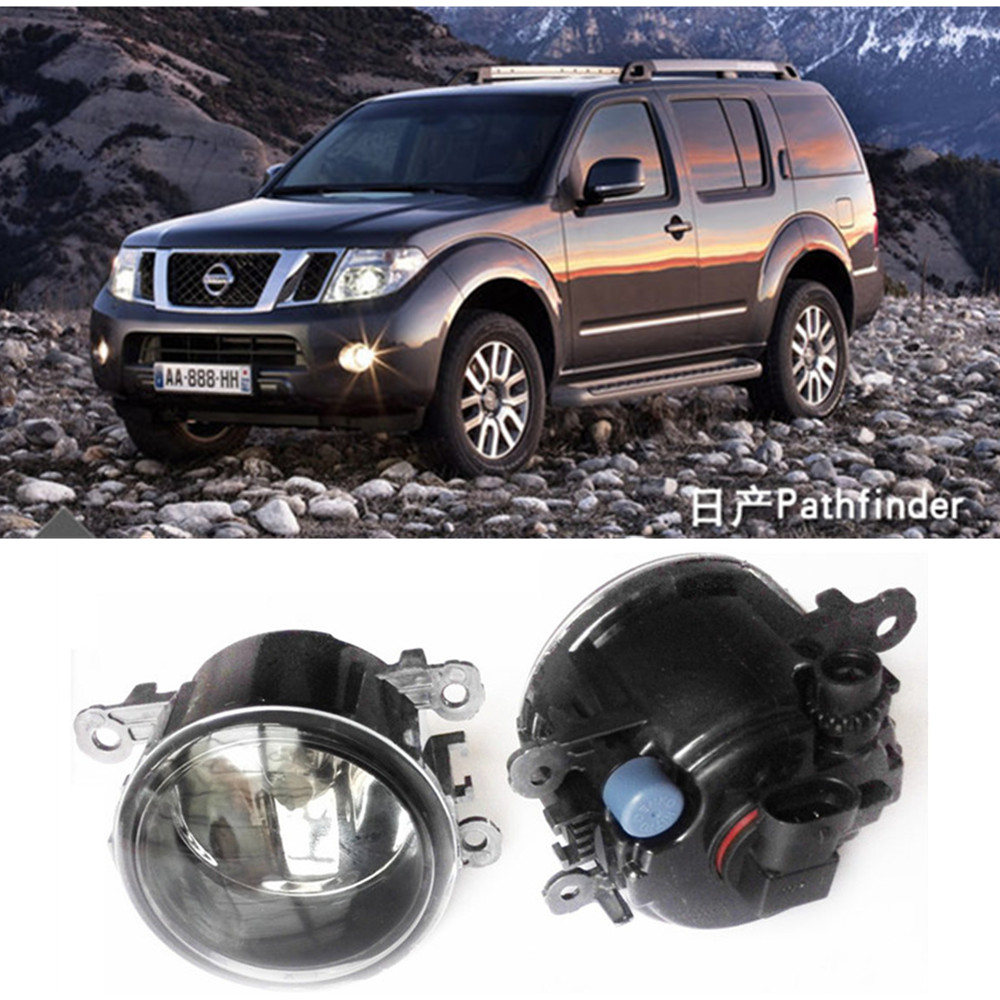 For NISSAN Navara D40 Pickup  2005-2015 Car styling Fog Lamps halogen Fog lights 1SET car styling halogen fog lights fog lamps for nissan wingroad 2002 12v 1set