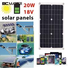 Portable Solar panel Generator Emergency Power Supply Solar Travel Solar cell Charging Phone Charger 20W 18V