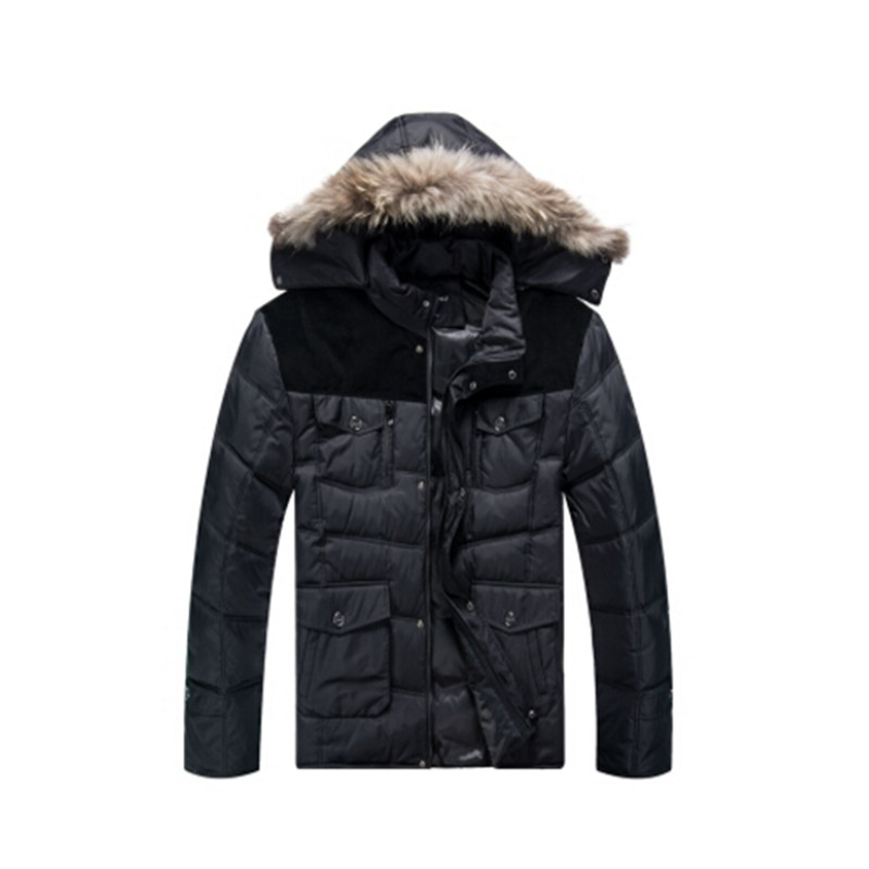 2016 new arrival winter fashion male obese thickening   down     coat   men's wool plus size XL- 5XL
