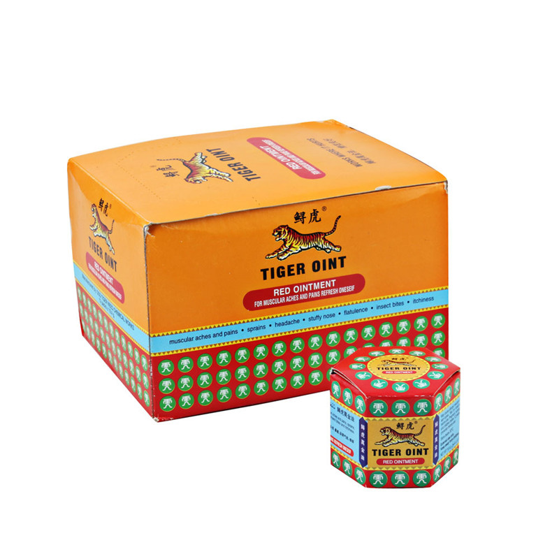 12pcs Red Tiger Balm Massage Ointment Original For Painkiller Muscle Pain Relief Balm Dizziness Essential Balm Oil