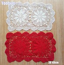 Modern cotton placemat cup coaster mug kitchen Christmas dining table place mat cloth lace Crochet tea coffee doily drink pad