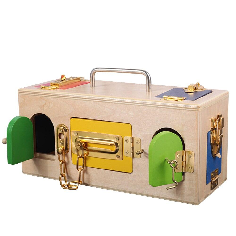 Jouets en bois Montessori boîte de verrouillage jouet Montessori jouets éducatifs pour enfants sensoriels éducatifs enfants jeux enfants cadeaux