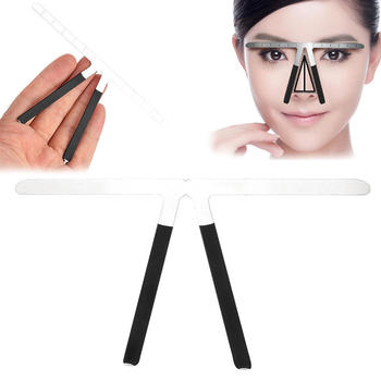 1pcs flexible metal eyebrow ruler scale positioning eyebrow forms for eyebrows styling tool