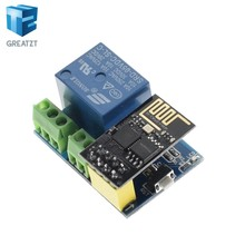 ESP8266 5V WiFi relay module Things smart home remote control switch phone APP ESP-01S relay module (with esp-01)(China)
