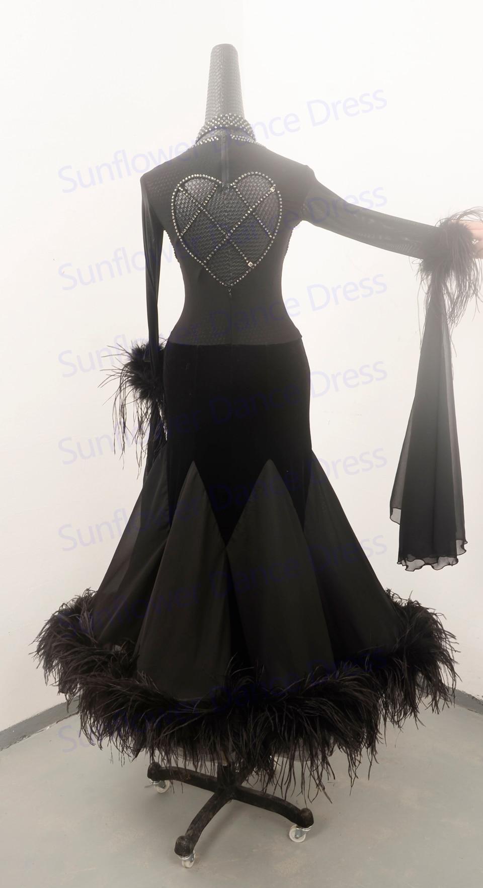 02463d6722b3 Ballroom Dance Dress New Stage dancing dress Waltz dress ostrich ...
