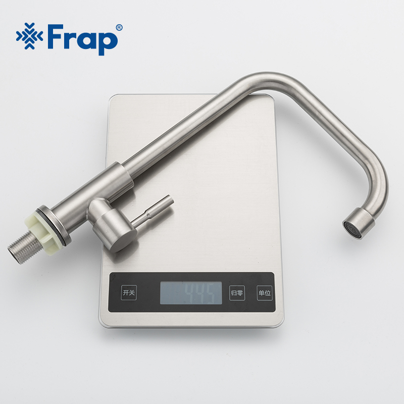 Image 5 - Frap Kitchen Faucet 304 stainless steel single cold water tap faucet sink tap 360 Degree Rotatio cold water single cold faucetKitchen Faucets   -