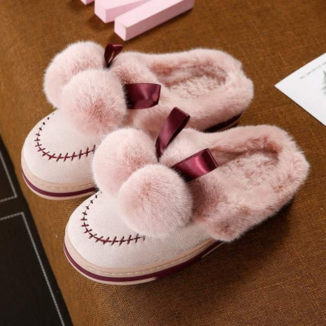 b56f70b5f15d Online Shop women s slippers 2018 indoor winter slipper warm home women  cotton couplehome fur slippers female slipper