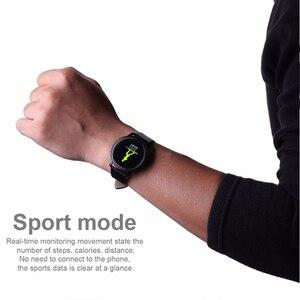 Image 3 - גברים SmartWatch נשים שעון חכם אנדרואיד קצב לב לחץ דם ip68 עמיד למים gps sim גשש כושר wristbands צמיד