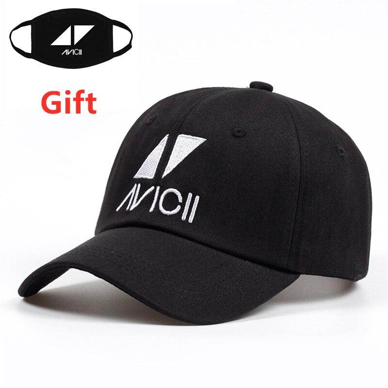 Mask as Gift Sweden DJ AVICII   baseball     cap   men women embroidered hip hop Rapper Bboy dancer dad   cap   sun hat