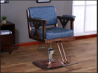 Купить с кэшбэком Hairdressing retro iron industrial wind hair chair factory direct hair salon barber shop special swivel chair