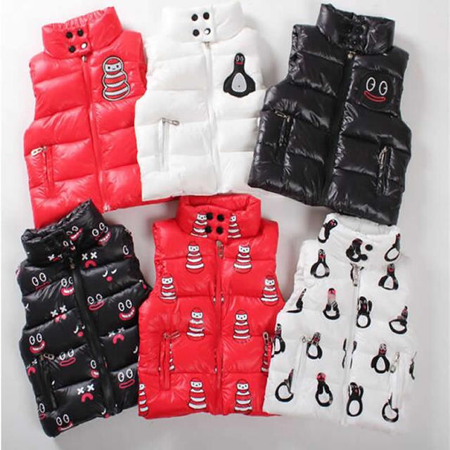 The new boy girl smiling Snowman padded cotton vest Penguin children explosion cuties
