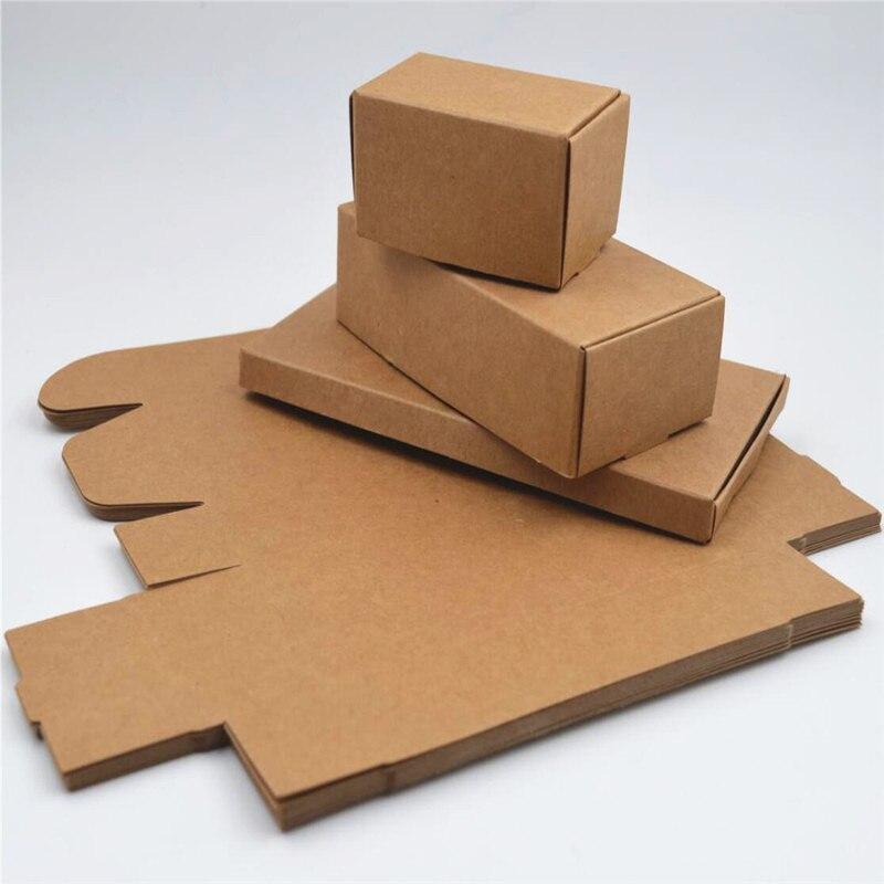 500pcs whoelsale 자연 크래프트 상자, 크래프트 종이 포장 상자, 작은 수제 비누 상자 75x65x20mm-에서선물가방&포장용품부터 홈 & 가든 의  그룹 1