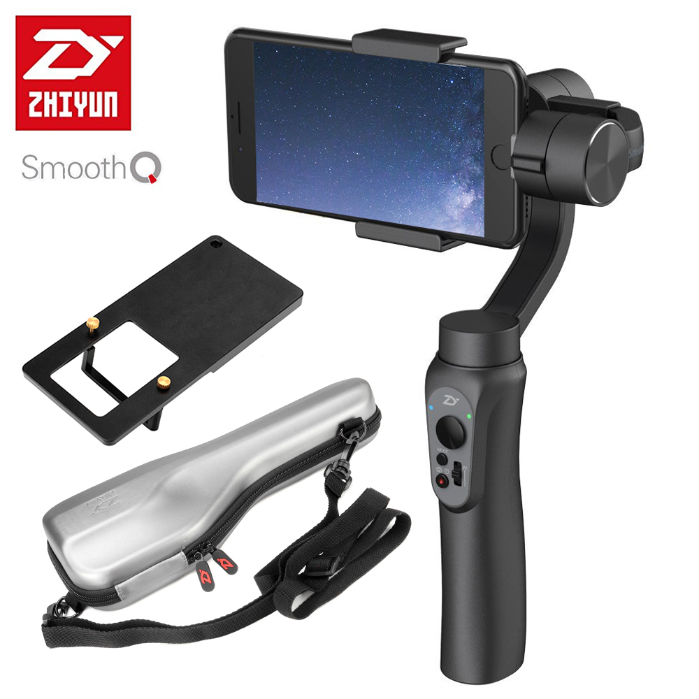 Zhiyun Smooth Q 3-Axis Handheld Smartphone Gimbal Stabilizer Smooth-Q VS Zhiyun Smooth III Model for iPhone 7 Plus Samsung S7 S6 z1 smooth ii 3 axis brushless handheld gimbal stabilizer for smartphone handheld within 6 5 screen