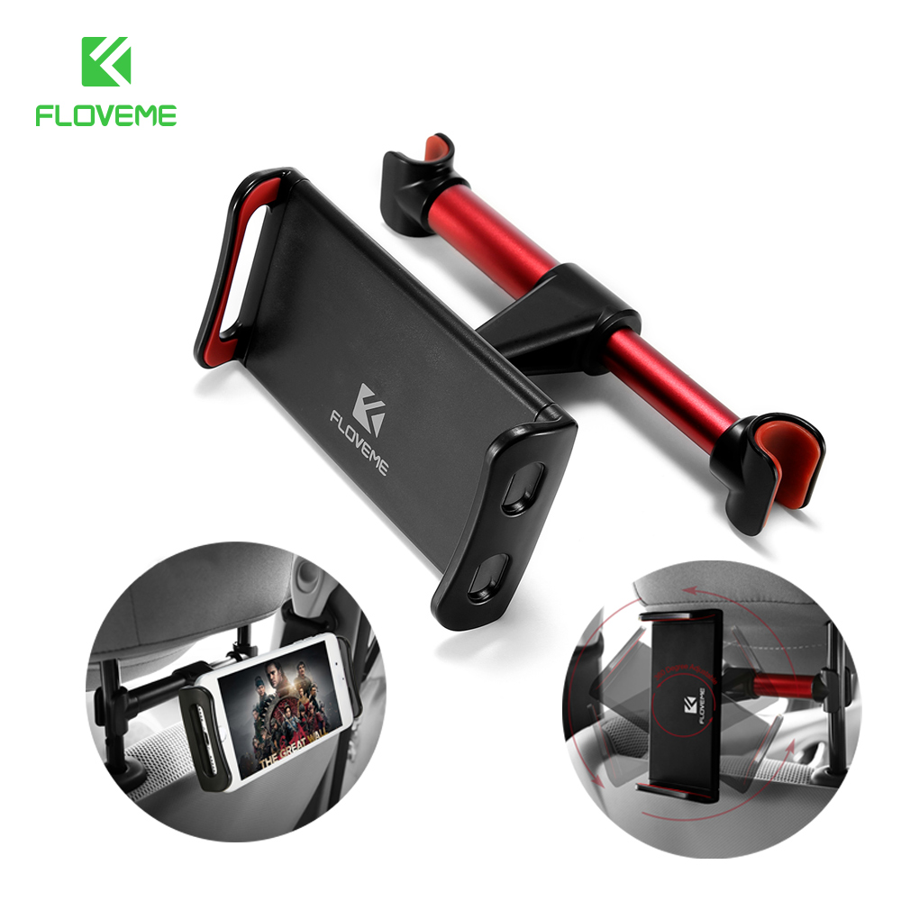 FLOVEME Tablet Car Holder Case for iPad air 1 2 Case Car Tablet Stand For iPad 1 2 3 4 Back Seat Stand Holder For Phone in Car 360 degree car back seat headrest mount holder for ipad mini 1 2 3 4 air galaxy tablet r179t drop shipping