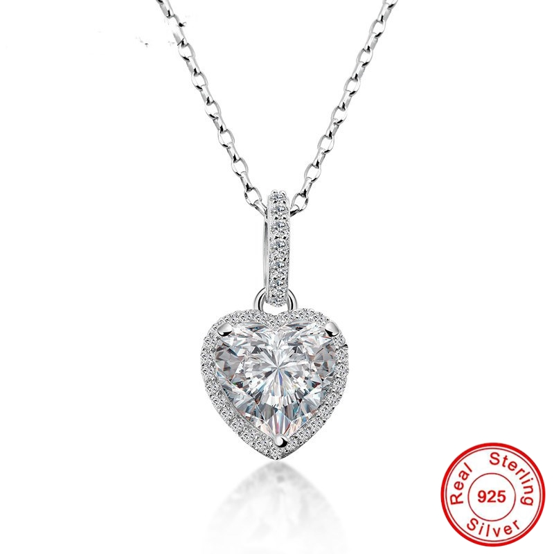 NOT FAKE S925 Fine Jewelry necklace Sona Necklace boutique Handmade Custom I love mom Jewelry Retro