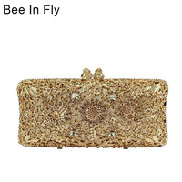 Bee In Fly Card Holder Coin Purse Phone Wallet Cash Pocket Photo Clutch Bag For Girl Birthday Gifts Crystal Bags
