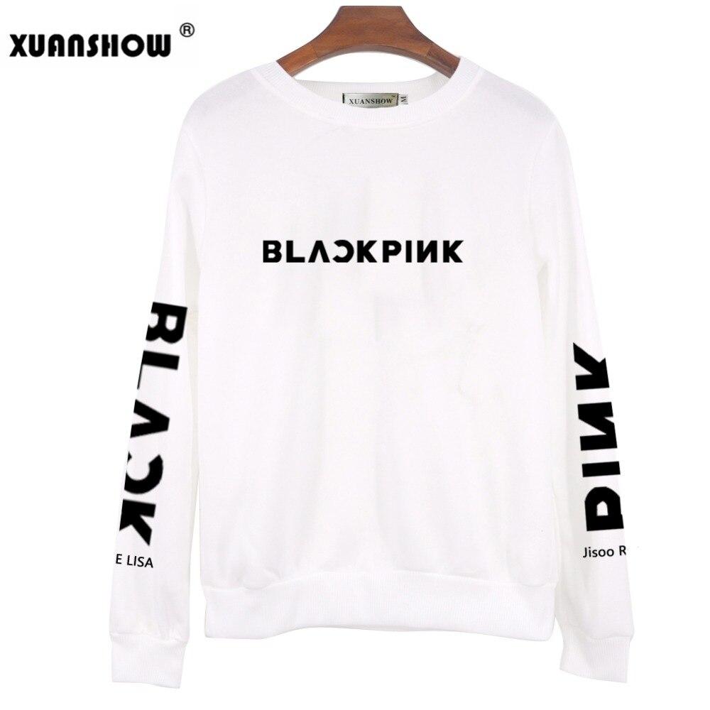 XUANSHOW 2018 BLACKPINK Album Kpop sudadera Hip Hop Casual letras impresas  sudaderas ropa pulóver impreso camisetas de manga larga en Sudaderas de La  ropa ... 02a2414a06f