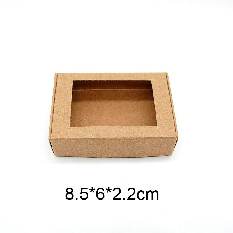 Kraft gift window box craft handmade soap party favor for 100 cm window box