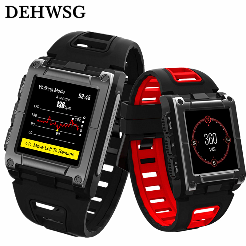 Здесь можно купить  DEHWSG Professional Sports Wristband S929 Bulit-in GPS track IP68 Waterproof Compass Heart Rate Monitor Smart watch Men 1.3  Бытовая электроника