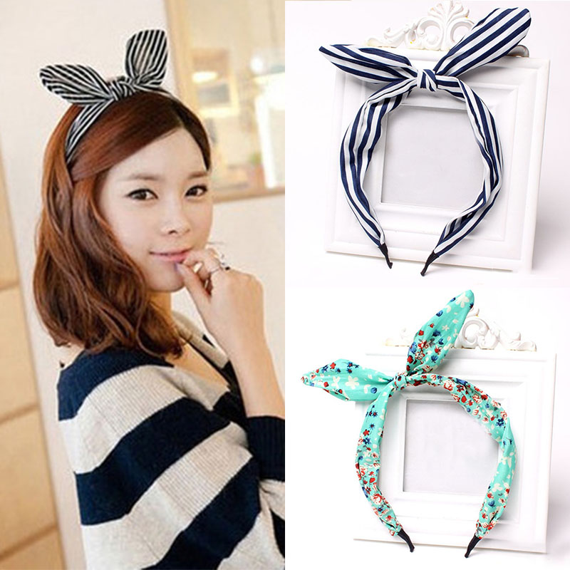 Rabbit Ears Headband for Woman Girl Knot Bandage Hairband Turban Headbands Headwrap Hair Hoop   Headwear   Hair Accessories Outdoor