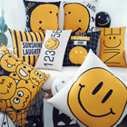 Lovely Emoji Pillow Fresh Cartoon Cotton Linen Pillowcase Cushion Decorative Pillow Home Pillows Decoration Sofa Throw Pillow