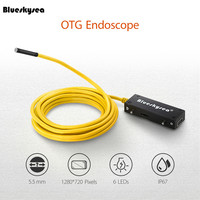 Blueskysea 5.5mm OTG Endoscope 10m Snake Tube Borescope 3.5m Inspection Camera Video Waterproof 2MP For Android IOS