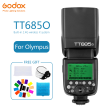 Godox TT685 TT685O Speedlite Flash Wireless TTL 2.4G Wireless HSS 1/8000s for Olympus E-M10II/E-M5II/E-M1/E Camera photography стоимость