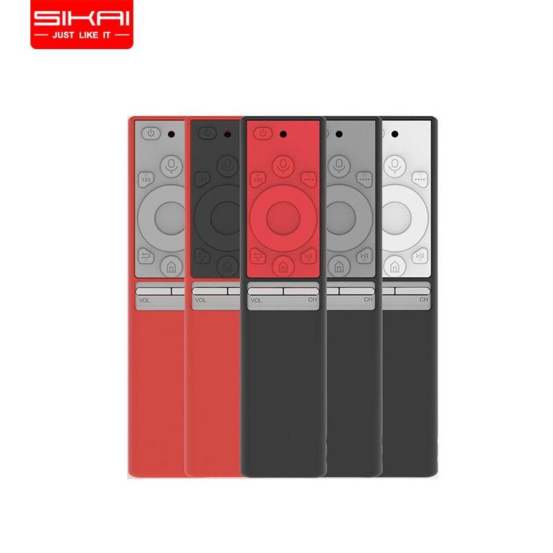 Sikai remoto caso para samsung qled smart tv capa para samsung inteligente caso de controle remoto BN59-01265A tv um remoto silicone capa