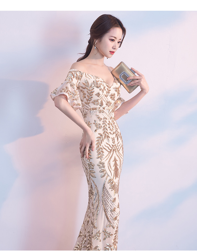d6f425a69b80 Long Mermaid Evening Dress 2019 Luxury Sequin Gowns Sexy Backless ...
