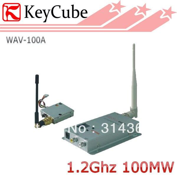 ФОТО 1.2G 100mW 8ch Wireless AV Transmitter Receiver System Audio VIdeo Trasmitter  kit 0.1W