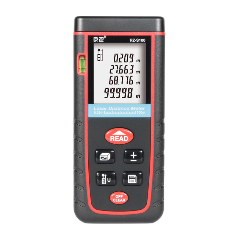 цена на Free Shipping RZS100 Digital Laser Rangefinder Area Volume Calculation Laser Distance Meter 100M