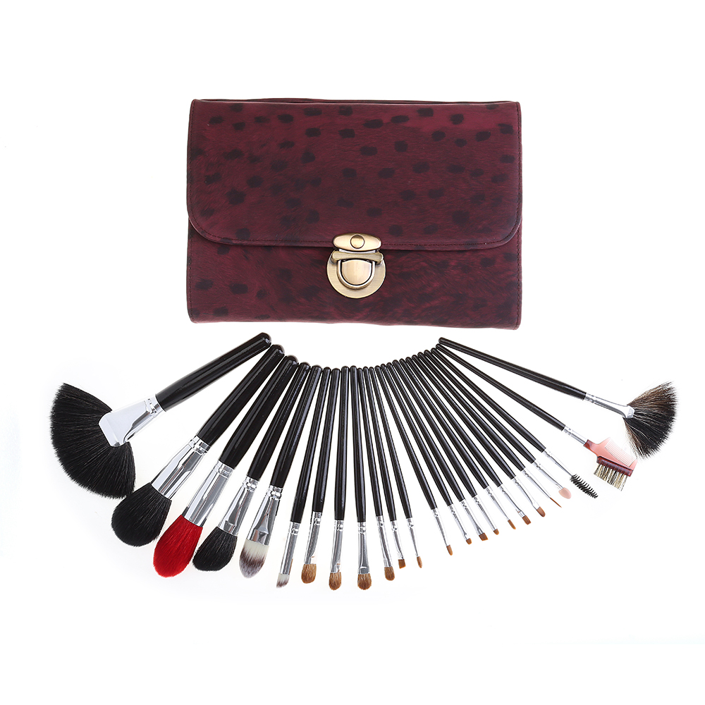 24 pcs Leopard Print Professional Makeup Brush Set Face Beauty Cosmetics Makeup Makeup Brushes Set Professional
