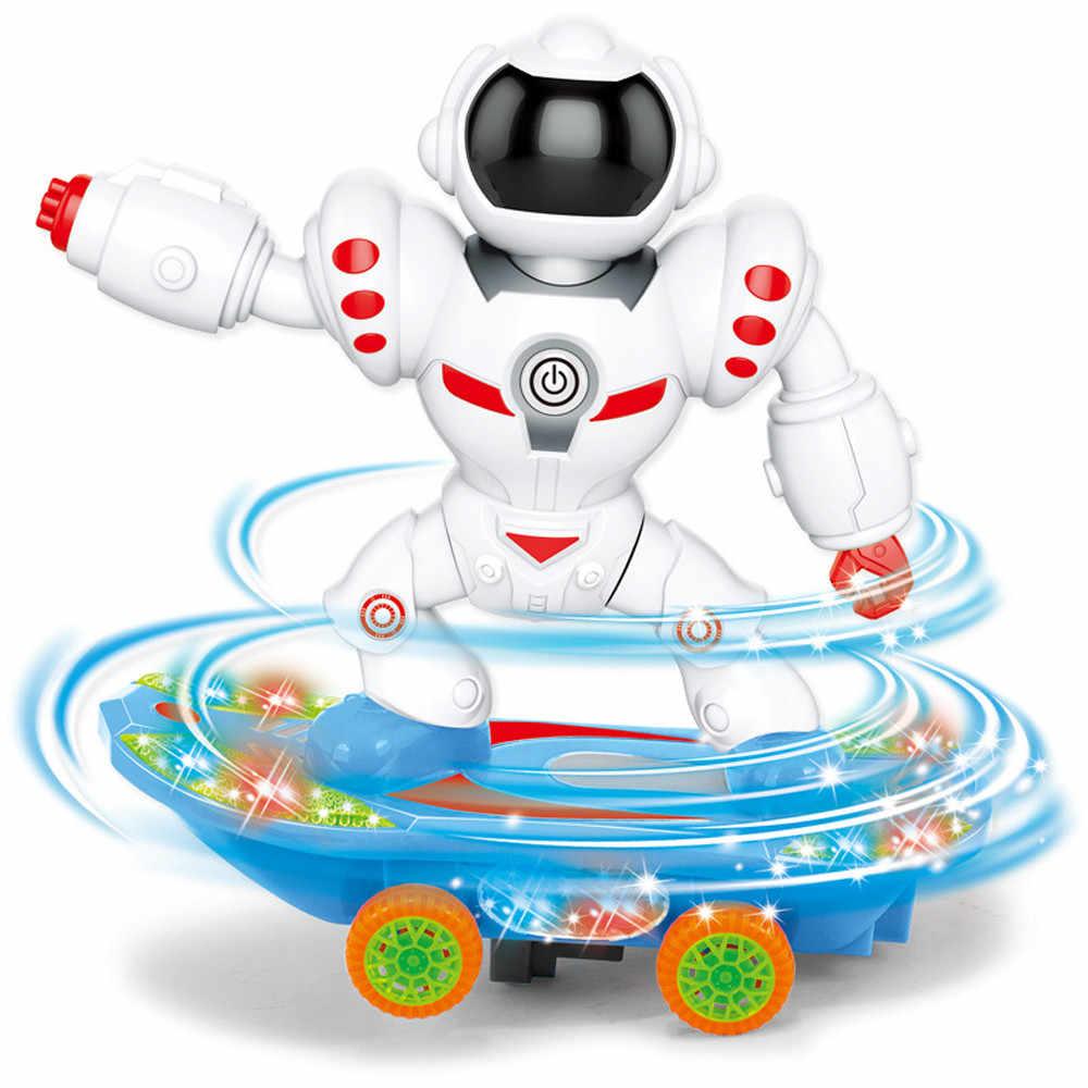 لعبة روبوت ذكي التفاعلية لعب للأطفال متعة روبوت سكوتر الأطفال الكهربائية العالمي ضوء الموسيقى لعبة مجسمة D301212