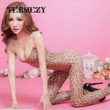 Оптовых leopard спандекс ажурные скользит боди чулки горячей женское сексуальное сетки