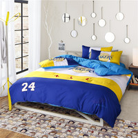 KELUO Hot Sale !Football Bedding Sets Duvet Cover Flat Sheet and Pillow Case Twin Queen Bed Embroider NO24 For BOY