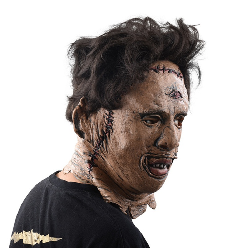 The Texas Chainsaw Massacre Leatherface Masks Scary Movie Cosplay Halloween Costume Props High Quality Toys Party Latex mask (1)