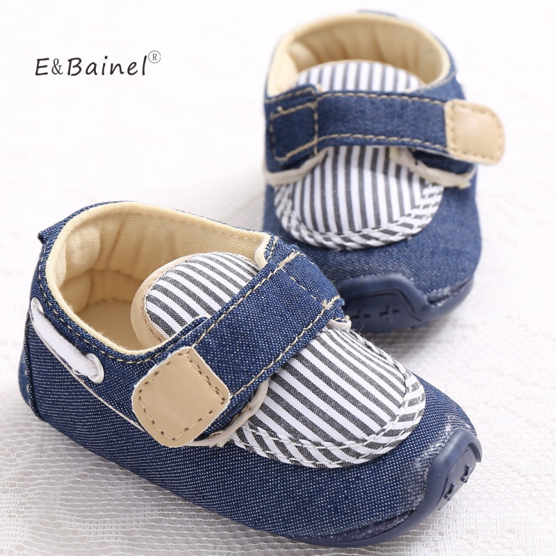 E&Bainel Canvas Anti Slip Soft Sole Baby Sneakers 0-18M Baby Boy Girls Crib Shoes Rubber Bottom Baby Shoes