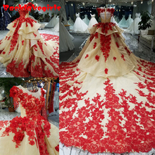 Gt2580 Embroidered Organza Tulle Lace Applique Dress With