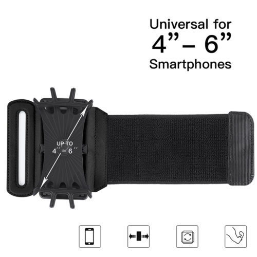 YUMQUA Mobile Phone Armband For iPhone 7 Plus 6S/ 6/ 5S Sports Workout Forearm case Silicone Cover For Samsung Galaxy Note 8