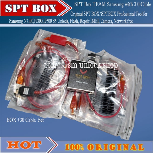 Free shipping New SPT Box 2 (SPTBOX) Latest 30 Cables - Software Repair Flash & Unlock Tool for Samsung