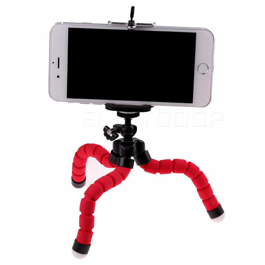 Car Phone Holder Mobile Phone Stand  Flexible octopus Tripod Bracket Digital Camera Mini Portable Flexible Desktop Stent
